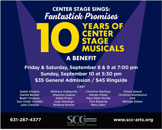 Center Stage Sings: Fantastick Promises (Sept. 8 – 10)